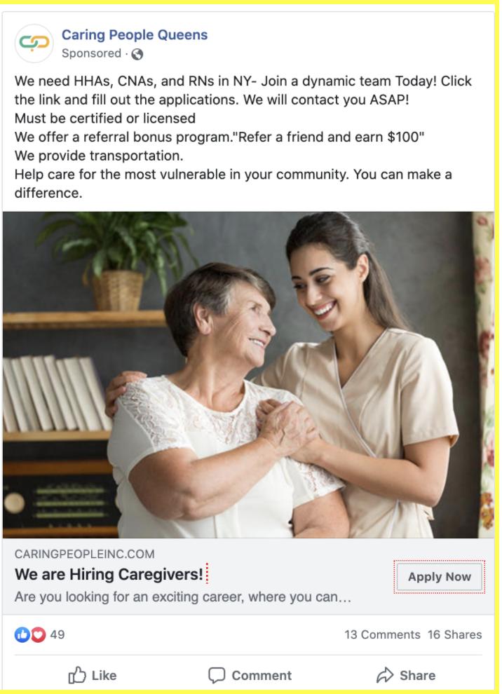 Hiring & Recruitment  Caregivers Case Study